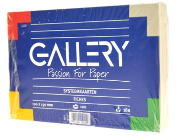Gallery witte systeemkaarten, ft 10 x 15 cm, effen, pak van 100 stuks