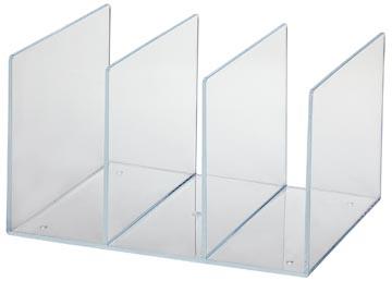 Maul acryl boekensteun met 3 compartimenten
