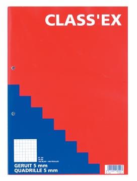 Class'ex cursusblok, geruit 5 mm, blok van 100 vel