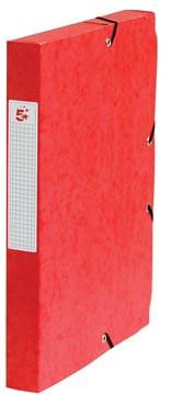 Pergamy elastobox, rug van 4 cm, rood