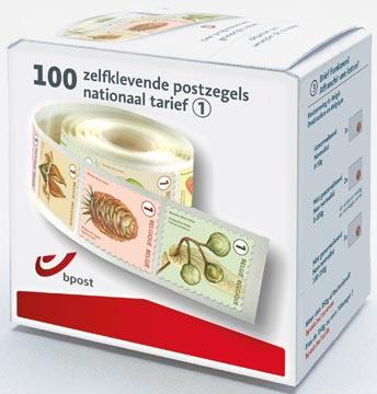 BPost postzegel nationaal, boomvruchten, doos van 100 stuks op rol, non-prior