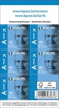 BPost postzegel tarief 1 Europa, Koning Filip, blister van 50 stuks, prior