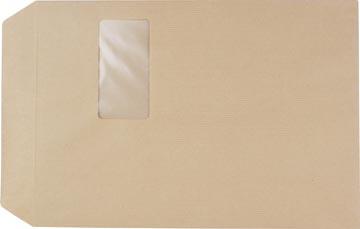 Pergamy kraftzakje 90 g, ft: C4 229 x 324 mm, met venster ft 50 x 100 mm, zelfklevend, doos van 250 stuks