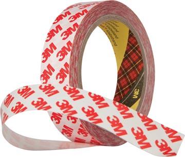 3M dubbelzijdige tape doorzichtig, ft 19 mm x 50 m