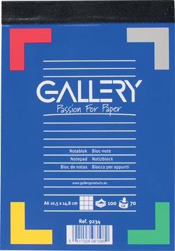 Gallery notitieblok, ft A6, geruit 5 mm, blok van 100 vel