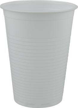 Drinkbeker uit polystyreen voor koude dranken, 180 ml, wit, pak van 100 stuks
