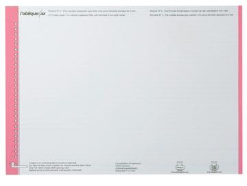 Elba etiketten voor hangmappen voor laden rood, 1 vel met 27 etiketten
