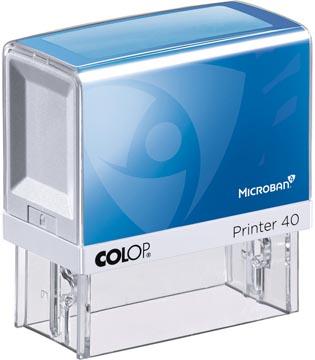 Colop printer 40 Microban, max. 6 regels, ft 59 x 23 mm, met de Microban antibacteriële technologie